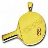 Medaglia personalizzata di ping-pong del metallo con l'autoadesivo stampato