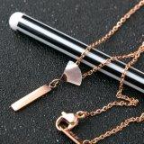 女性のための方法宝石類のステンレス鋼のラジアンのシェルの金のネックレス