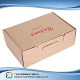 Rectángulo de empaquetado barato del papel de Kraft para la ropa/el zapato/la ropa (xc-cbk-001)