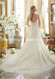 낮게 주문품 결박은 역행시킨다 우아한 레이스 지면 길이 결혼 예복 (꿈 100090)를