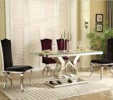 販売のための簡単で典型的な上の大理石の食堂テーブル