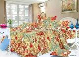 印刷された多または綿の対の合われたベッドカバーのパッチワークの寝具セット