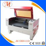 Máquina Popular-Usada del laser para el corte del bordado de la materia textil (JM-1280H-CCD)