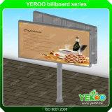 Cartelera de la columna de la visualización de la publicidad al aire libre de la forma de V