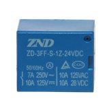 relais électromagnétique miniature du relais 7A 24V du pouvoir 3FF (T73)