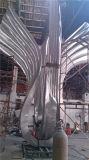 Grande scultura esterna dell'acciaio inossidabile
