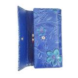 Складывая бумажник портмона монетки неподдельной кожи женщин с нестандартной конструкцией