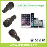 caricatore doppio nero dell'automobile del USB 2.4A per il iPhone e Smartphones