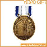 Médaille d'or faite sur commande de logo pour les cadeaux de souvenir (YB-MD-40)