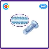 탄소 Steel/4.8/8.8/10.9에 의하여 직류 전기를 통하는 연장 로드 육각형 단추 또는 둥근 맨 위 나사