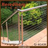 Puder-Beschichtung-Edelstahl-Handlauf im Treppenhaus (SJ-H039)