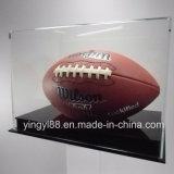 Оптовый полноразрядный витринный шкаф футбола с черным акриловым основанием