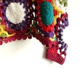 Alineada de la tapa de la rebeca del halter del suéter del ganchillo de la mano de la vendimia de la manera