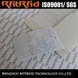 Etiqueta adhesiva larga inalterable/evidente del bajo costo del rango RFID para la ropa