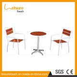 Kaffee-Nachtisch-System-Innenmöbel-Aluminiumhölzerner Plastiktisch und Stuhl