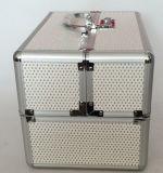Caixa de maquiagem dourada com alumínio / ABS Boa qualidade e bom preço do fabricante