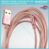 Relâmpago trançado de nylon ao cabo cobrando do USB