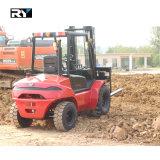 Diesel van het Terrein van 4.0 Ton Ruwe Vorkheftruck met Motor Perkins