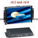 Монитор LCD рамки металла экрана касания 10.2 дюймов открытый для машины POS