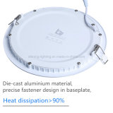 15W iluminación de techo redonda de la luz CRI>80 LED Downlight del panel del bulbo de interior ultra delgado AC85-265V de la lámpara