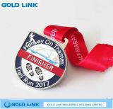Concessões Running dos esportes do medalhão da estação de acabamento da raça de maratona da medalha