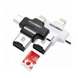 4 dans 1 Type-c/pour le lecteur de carte mémoire d'USB/Andriod USB 2.0 de /Micro d'iPhone