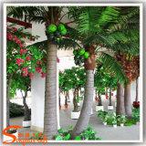 Árvore falsificada artificial da planta do coco da fibra de vidro ao ar livre