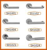 304 Handvatten van de Deur van het Type van Hefboom van het roestvrij staal de Tubulaire
