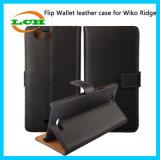 Wiko 리지를 위한 지갑 손가락으로 튀김 신용 카드 그리고 홀더 상자