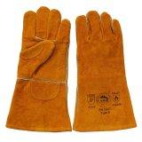 Double gants résistants coupés de main de cuir de paume par protection pour la soudure