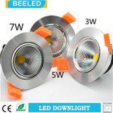 거울같은 3W Dimmable LED Downlight에 의하여 중단되는 차가운 백색 프로젝트 광고 방송