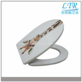 Qualitäts-Weiche-Abschluss-runder dekorativer Toiletten-Sitz