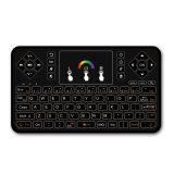 Teclado puesto a contraluz Q9 con el ratón sin hilos de Fly Air del teclado del Touchpad Q9