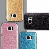 SamsungギャラクシーS7端の電話箱の光沢があるきらめきのBlingカバーのため