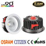 techo de cinco años Downlight de la MAZORCA LED del ciudadano de la garantía CRI90+ 40W con el programa piloto de Osram
