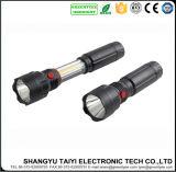 4*AAA LEIDEN van de MAÏSKOLF LEIDENE van het op batterijen Werk van de Toorts Lichte 6W Intrekbaar Flitslicht