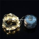防水暖かく白い銀製ワイヤーLEDストリング星明かりのライト装飾的のための電池式の軽いロープライト