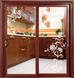 옷장 문을 미끄러지는 가정 목욕탕 유리 미닫이 문 알루미늄 단면도