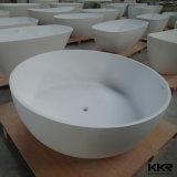 Vasca da bagno rotonda di piccola dimensione di vendita di Kingkonree della pietra calda della resina