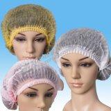 Proteção para o cabelo descartável Single / Double Elastic Clip Cap