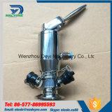Válvula asséptica pneumática sanitária da amostragem do aço inoxidável