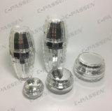 Frasco de creme acrílico da loção do frasco do ouro de cristal novo da chegada para o empacotamento do cosmético (PPC-NEW-092)