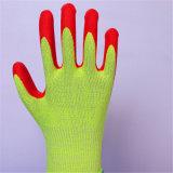Перчатки стеклянного волокна Hppe нитрила пены Coated