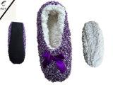 أربعة لون نساء قطيفة [سود] أحذية ([ر-سل1625])
