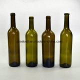 750mlガラスワイン・ボトル、コルクの上のボルドーのびん(NA-014)