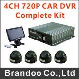 熱い販売4 CH 1080P HDの背面図移動式車の手段のタクシーSDのカードDVR
