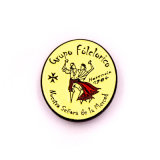 Presente personalizado promoção do emblema do estanho do ímã