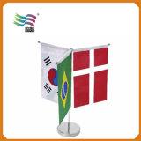 Mini bandierine nazionali promozionali su ordinazione del piano d'appoggio con il basamento (HYTF-AF022)