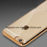 Cas mou Electroplated transparent de TPU pour l'iPhone 6
