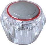 Maneta de grifo del plástico del ABS con el final del cromo (JY-3032)